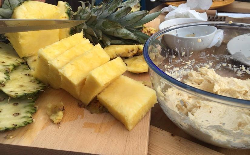 Gegrillter Nachtisch // Ananas mitRumbutter
