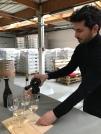 Weinprobe mit Winzer Julien Brustis.