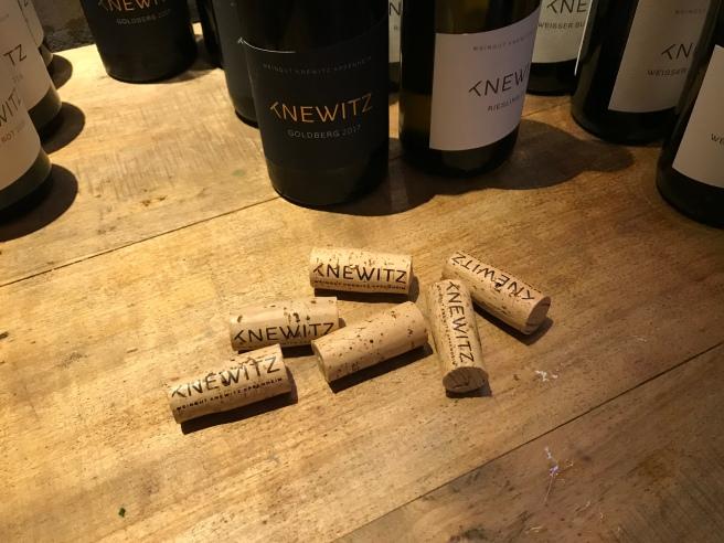 Die Weinauswahl.
