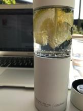 Karaffe für infusioniertes Wasser.