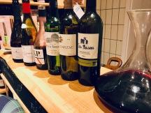 Lin-up der Rotweine