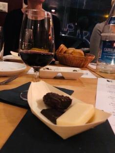 Rubyport mit Käse und Schokolade