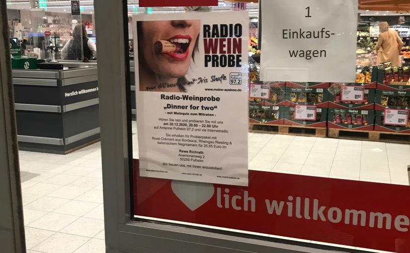 """Radio-Weinprobe 4: """"Dinner for two"""" mitWeinquiz"""