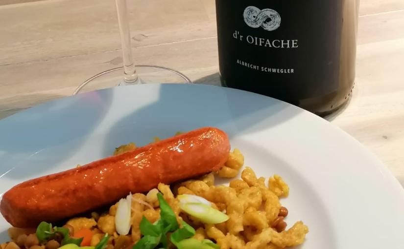 Vinotarischer Freitag: Rotwein zu Linsen und selbstgemachtenSpätzle