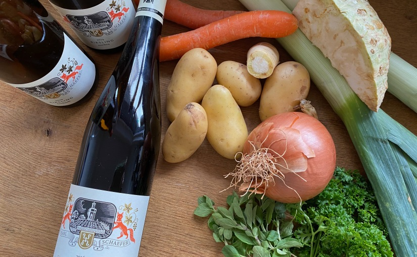 Vinotarischer Freitag: Vegane Grumbeersupp und jede MengeRiesling