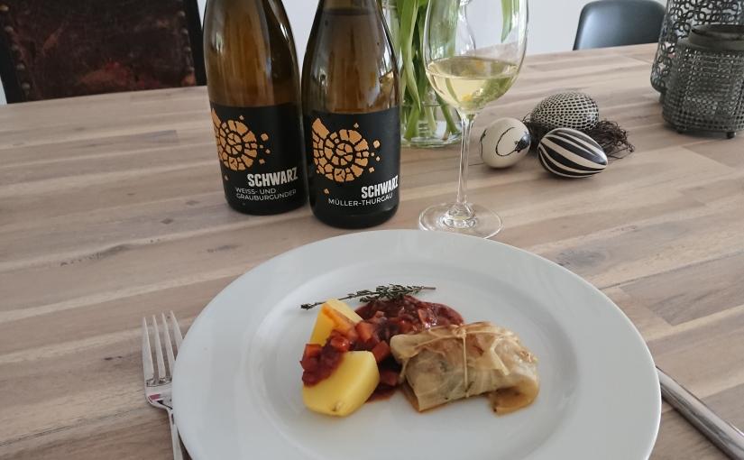 Vinotarischer Freitag: Vegane Kohlrouladen mit Sachsen-Burgunder